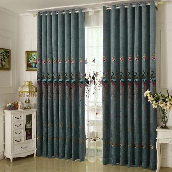 sheer-curtains-10 7 Luxurious Blackout Curtain Ideas That Will Turn Your Window into a Piece of Art