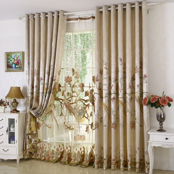 sheer-curtains-11 7 Luxurious Blackout Curtain Ideas That Will Turn Your Window into a Piece of Art