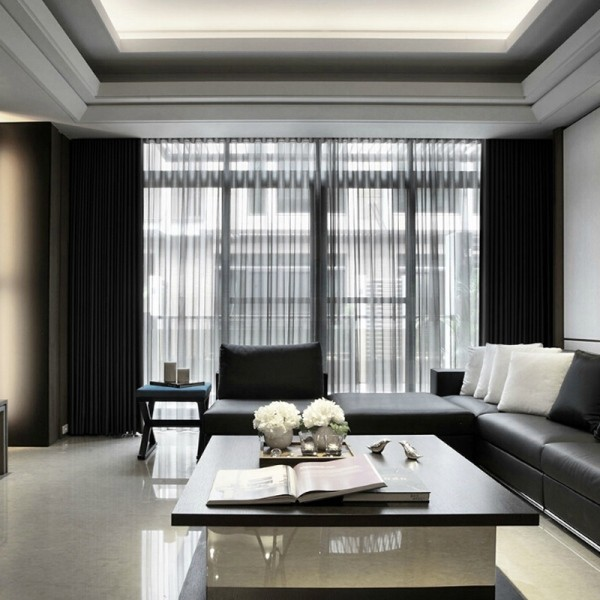 sheer-curtains-12 7 Luxurious Blackout Curtain Ideas That Will Turn Your Window into a Piece of Art