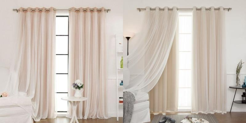 sheer-curtains-15 7 Luxurious Blackout Curtain Ideas That Will Turn Your Window into a Piece of Art