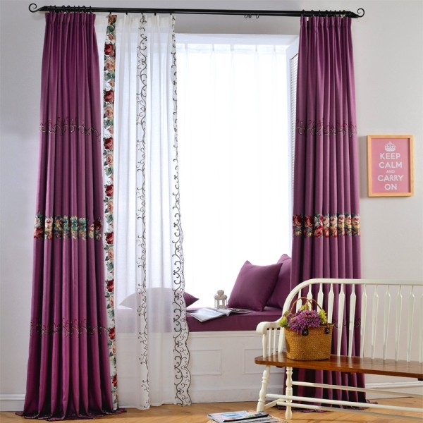 sheer-curtains-3 7 Luxurious Blackout Curtain Ideas That Will Turn Your Window into a Piece of Art