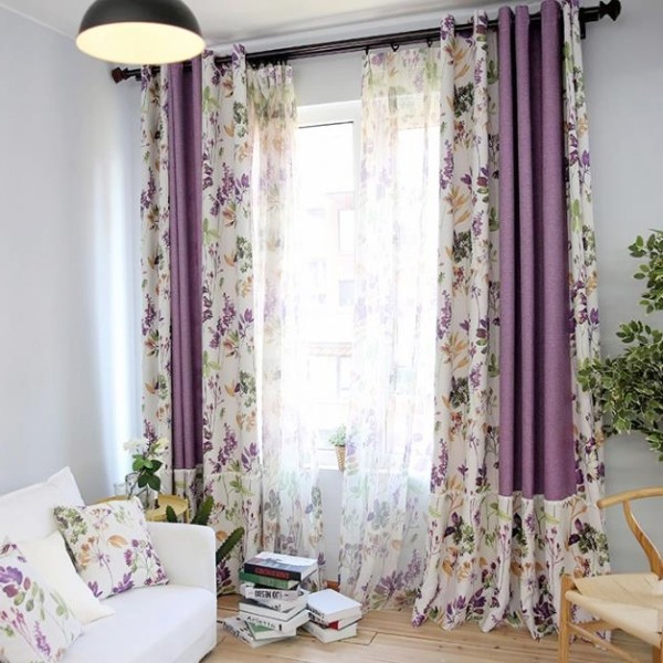 sheer-curtains-9 7 Luxurious Blackout Curtain Ideas That Will Turn Your Window into a Piece of Art