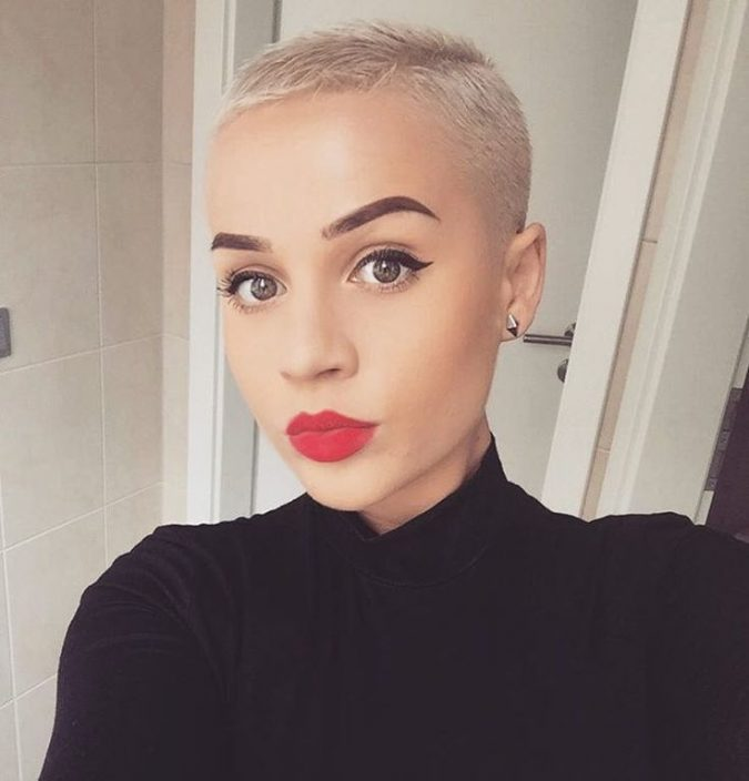 woman-shaved-head-pixie-haircuts-675x704 Know What's In and Out in the Fashion World