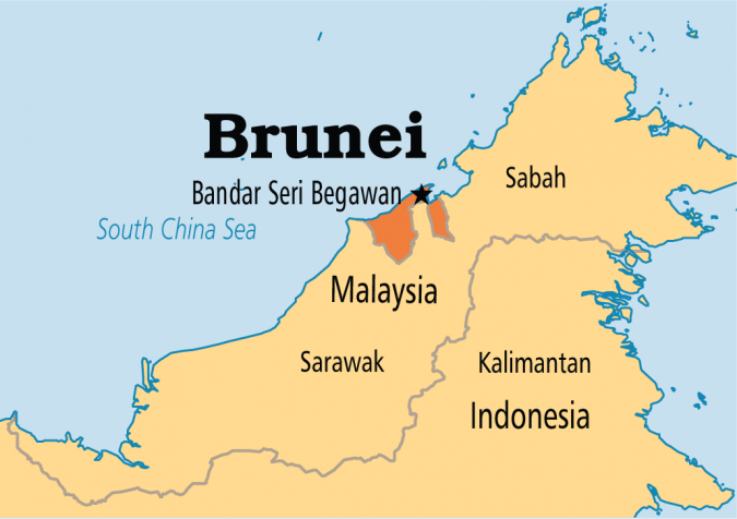 Brunei-map-675x476 Top 5 Debt-Free Countries in The World!