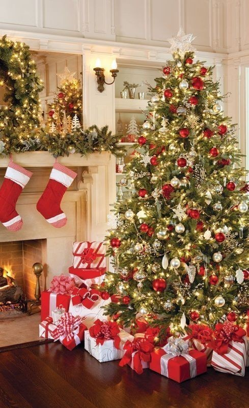 Christmas-tree-decoration-ideas-2018-10 96+ Fabulous Christmas Tree Decoration Ideas 2018