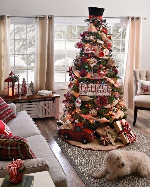 Christmas-tree-decoration-ideas-2018-116 96+ Fabulous Christmas Tree Decoration Ideas 2018