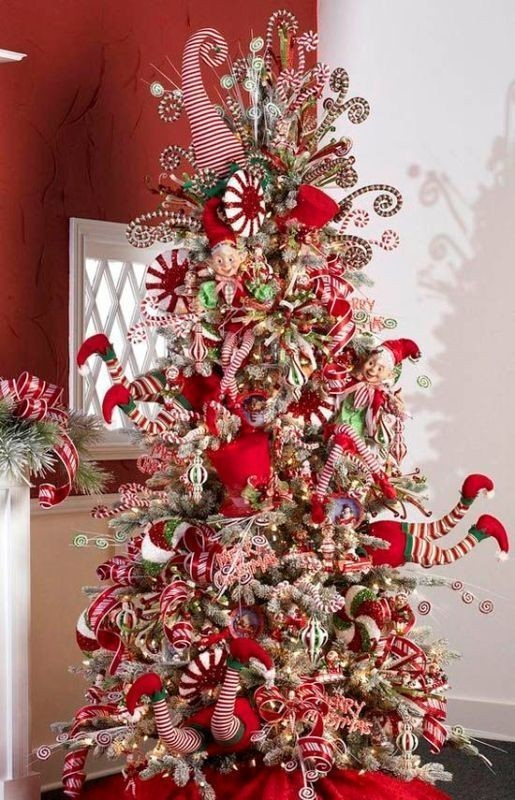 Christmas-tree-decoration-ideas-2018-19 96+ Fabulous Christmas Tree Decoration Ideas 2018