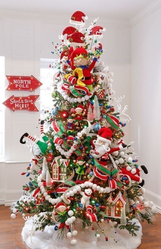 Christmas-tree-decoration-ideas-2018-22 96+ Fabulous Christmas Tree Decoration Ideas 2018