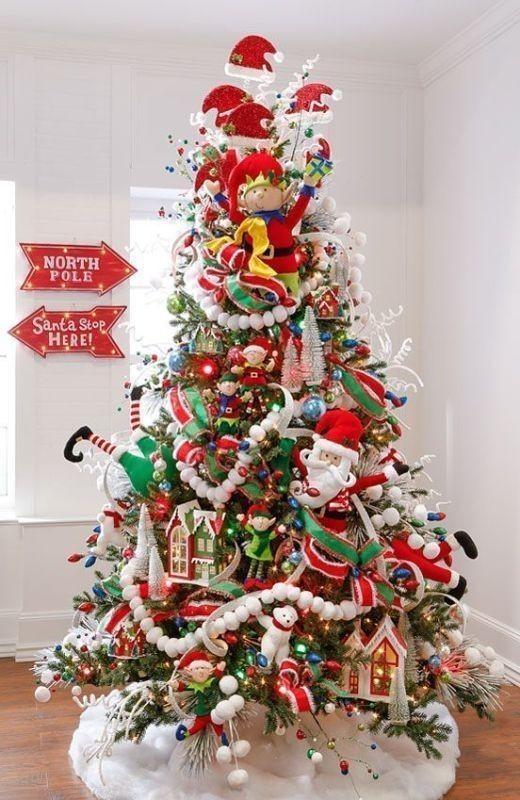 Christmas-tree-decoration-ideas-2018-22 96+ Fabulous Christmas Tree Decoration Ideas 2018