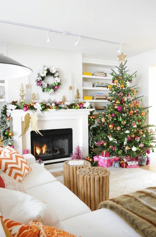 Christmas-tree-decoration-ideas-2018-25 96+ Fabulous Christmas Tree Decoration Ideas 2018