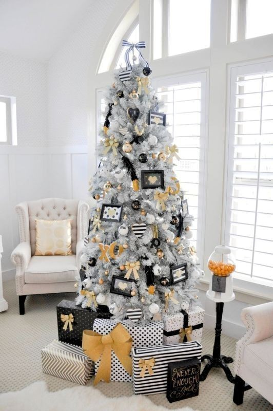 Christmas-tree-decoration-ideas-2018-27 96+ Fabulous Christmas Tree Decoration Ideas 2018