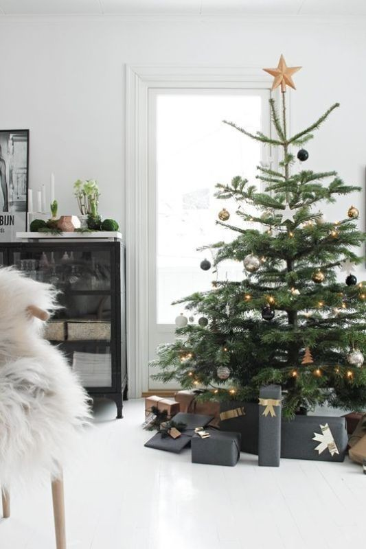 Christmas-tree-decoration-ideas-2018-29 96+ Fabulous Christmas Tree Decoration Ideas 2018