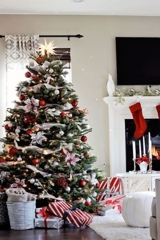 Christmas-tree-decoration-ideas-2018-31 96+ Fabulous Christmas Tree Decoration Ideas 2018