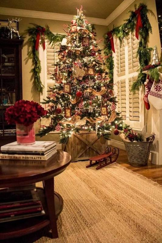 Christmas-tree-decoration-ideas-2018-34 96+ Fabulous Christmas Tree Decoration Ideas 2018