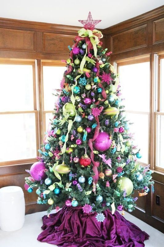 Christmas-tree-decoration-ideas-2018-45 96+ Fabulous Christmas Tree Decoration Ideas 2018