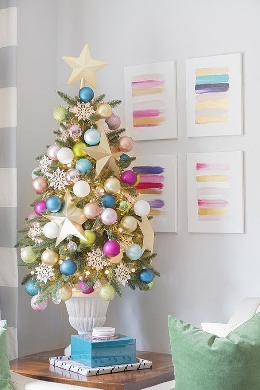 Christmas-tree-decoration-ideas-2018-50 96+ Fabulous Christmas Tree Decoration Ideas 2018