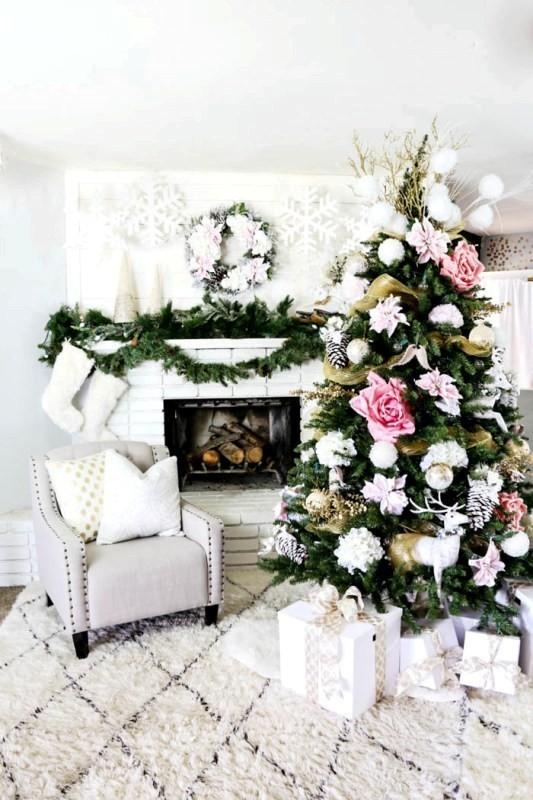 Christmas-tree-decoration-ideas-2018-61 96+ Fabulous Christmas Tree Decoration Ideas 2018