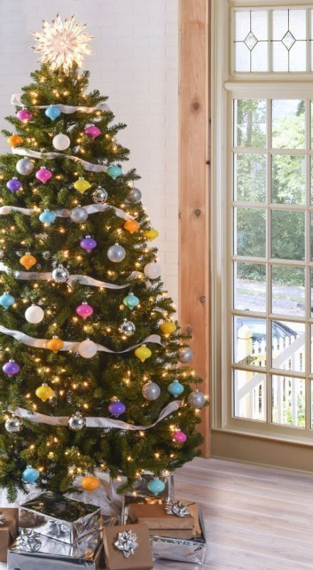 Christmas-tree-decoration-ideas-2018-7 96+ Fabulous Christmas Tree Decoration Ideas 2018