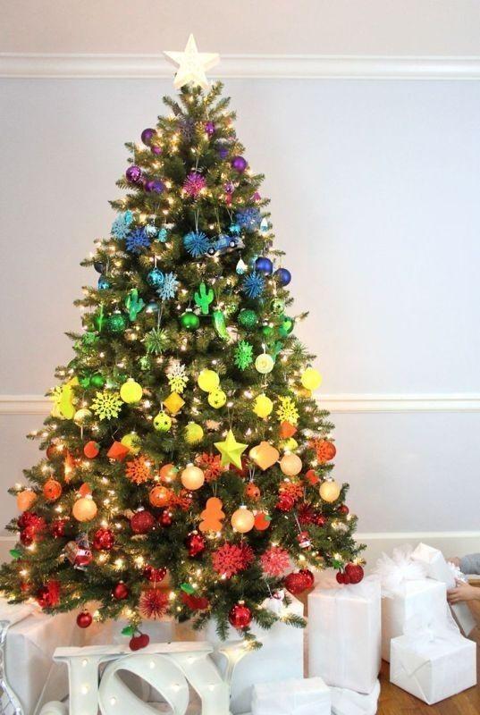 Christmas-tree-decoration-ideas-2018-70 96+ Fabulous Christmas Tree Decoration Ideas 2018