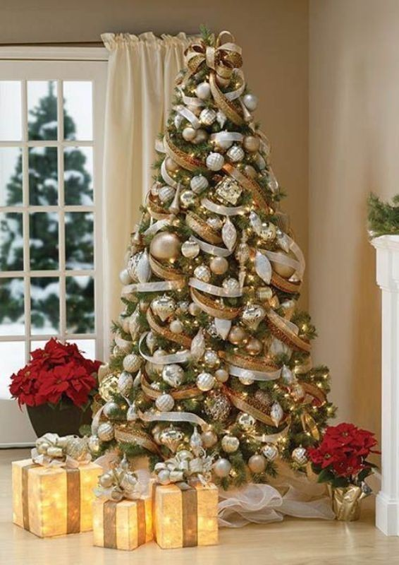 Christmas-tree-decoration-ideas-2018-76 96+ Fabulous Christmas Tree Decoration Ideas 2018
