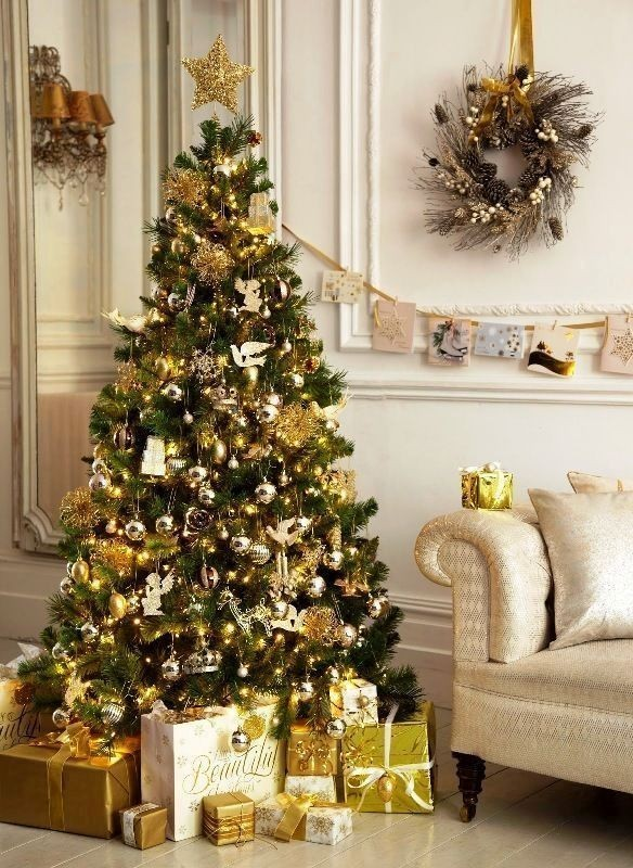 Christmas-tree-decoration-ideas-2018-81 96+ Fabulous Christmas Tree Decoration Ideas 2018