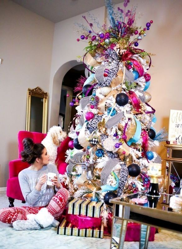 Christmas-tree-decoration-ideas-2018-83 96+ Fabulous Christmas Tree Decoration Ideas 2018
