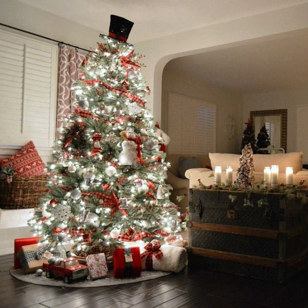 Christmas-tree-decoration-ideas-2018-93 96+ Fabulous Christmas Tree Decoration Ideas 2018