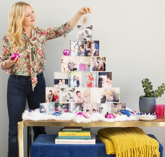 Christmas-tree-using-photos 96+ Fabulous Christmas Tree Decoration Ideas 2018