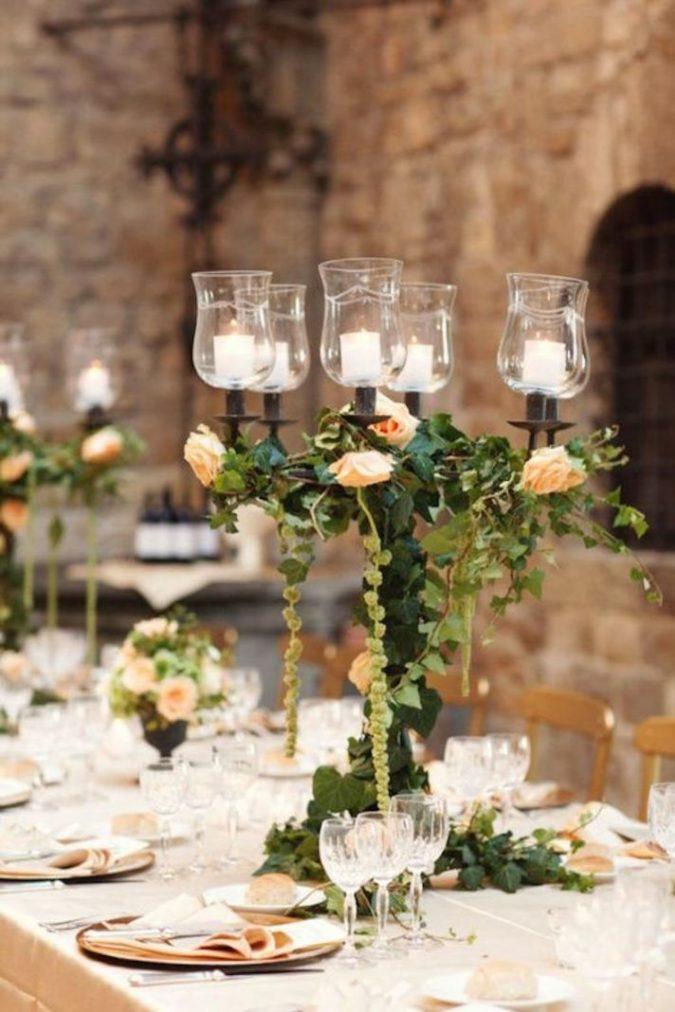 Christmas-wedding-decoration-candelabra-centerpiece-675x1012 8 Festive Tips for a Christmas-Themed Wedding