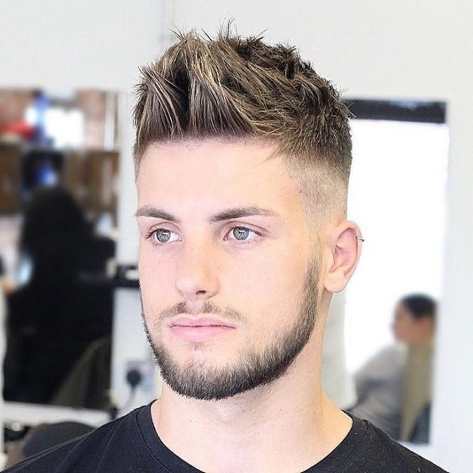 High-Temp-Fade-and-Messy-Textured-Hair-men-hairstyle-2-675x675 6 Most Edgy Hairstyles For Men in 2018