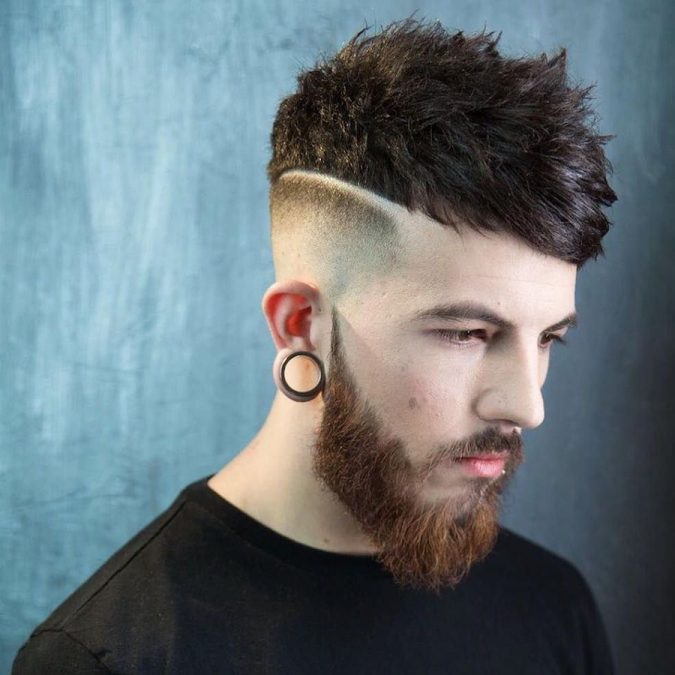 High-Temp-Fade-and-Messy-Textured-Hair-men-hairstyle-675x675 6 Most Edgy Hairstyles For Men in 2018