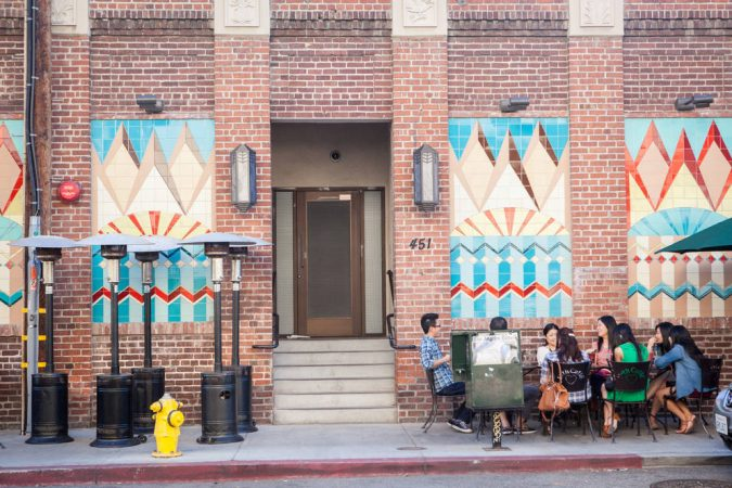 LA-arts-district-outdoor-cafe-seating-mosaics-675x450 Top 10 Cool & Unusual Things to Do in Los Angeles