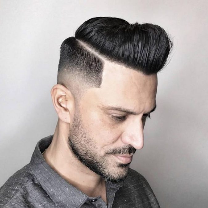 Modern-Pomp-Drop-Fade-men-hairstyle-675x675 6 Most Edgy Hairstyles For Men in 2018