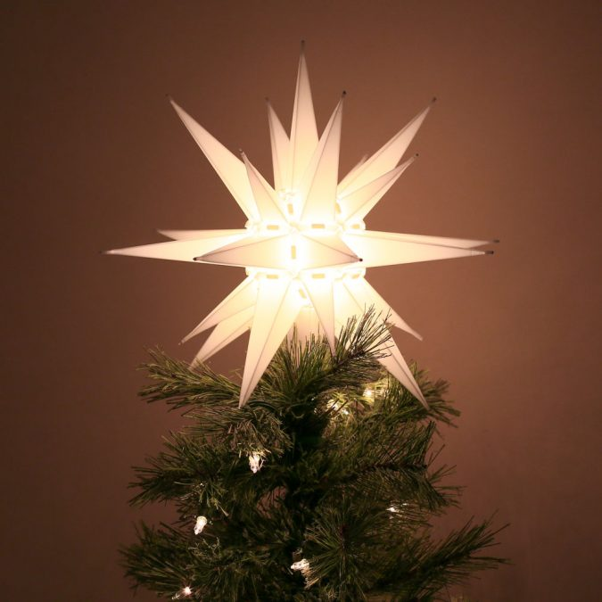 North-Carolina-Moravian-Star-Christmas-Tree-Topper-Light-675x675 Top 10 Christmas Decoration Ideas & Trends 2019/2020