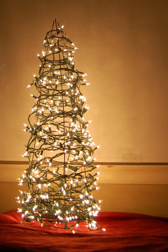 Tomato-cage-christmas-tree-675x1013 Top 10 Outdoor Christmas Light Ideas for 2020