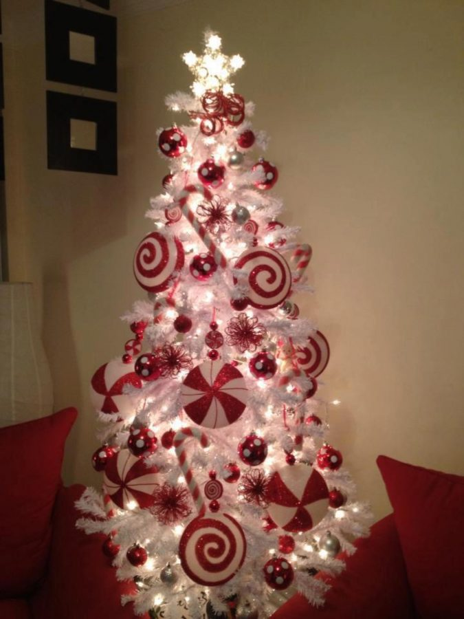 White-christmas-tree-with-red-decoration-2-675x900 Top 10 Christmas Decoration Ideas & Trends 2018