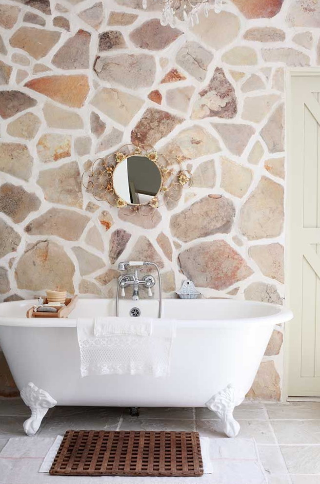 bathroom-decorative-stone-bricks-3 Top 10 Master Bathrooms Design Ideas for 2018