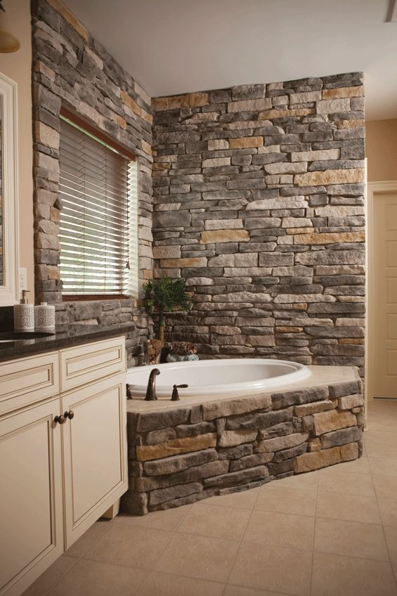 bathroom-decorative-stone-bricks Top 10 Master Bathrooms Design Ideas for 2018