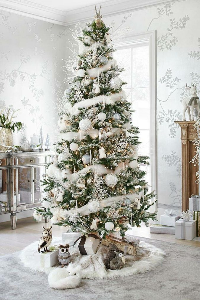 christmas-tree-with-white-decoration-675x1011 Top 10 Christmas Decoration Ideas & Trends 2019/2020
