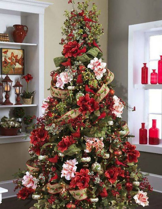 floral-christmas-tree-3-675x873 Top 10 Christmas Decoration Ideas & Trends 2019/2020