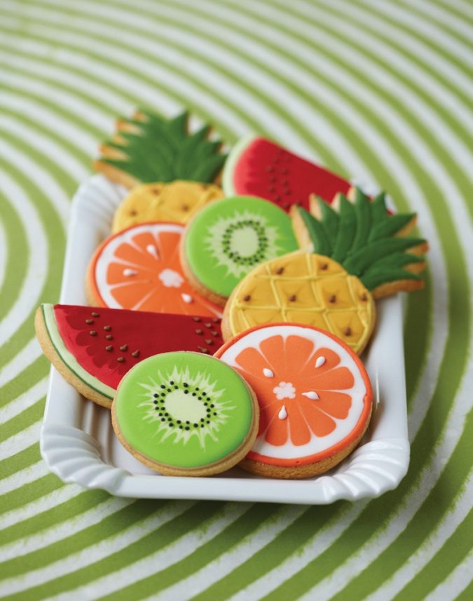 fruit-shaped-cookies-garden-party-675x857 Top 10 Best Spring Party Ideas for 2018