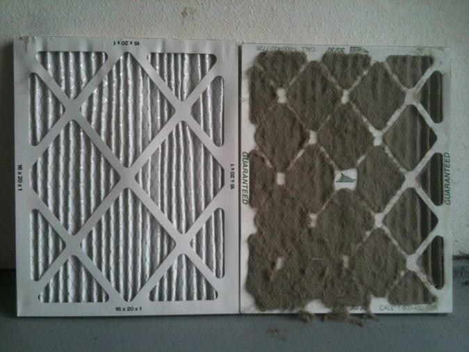 furnace-dirty-and-clean-filters-675x506 7 Most Common Furnace & heating Problems