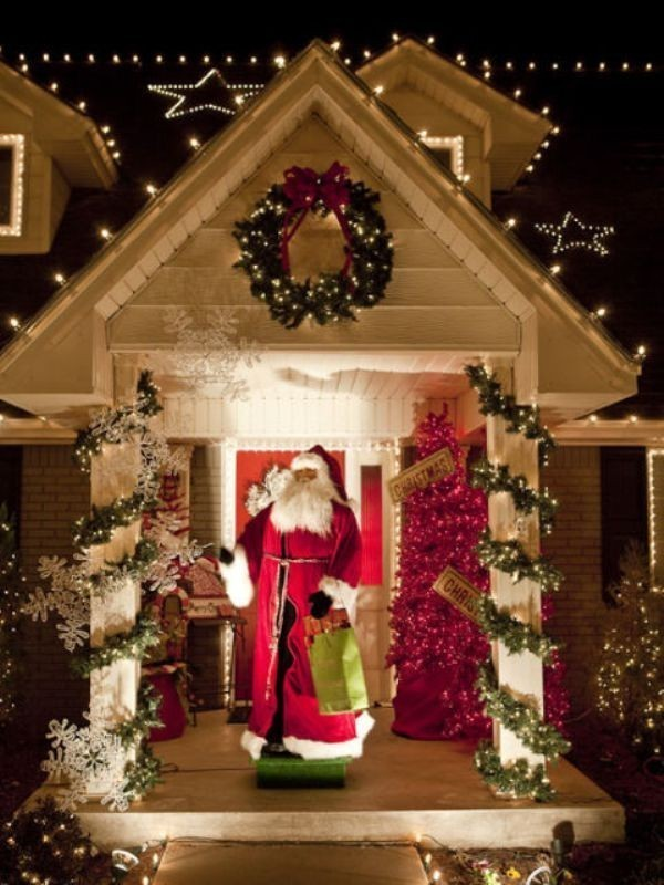 outdoor-Christmas-decoration-107 91+ Adorable Outdoor Christmas Decoration Ideas 2018