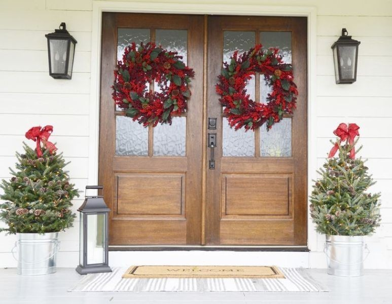 outdoor-Christmas-decoration-121 91+ Adorable Outdoor Christmas Decoration Ideas in 2020