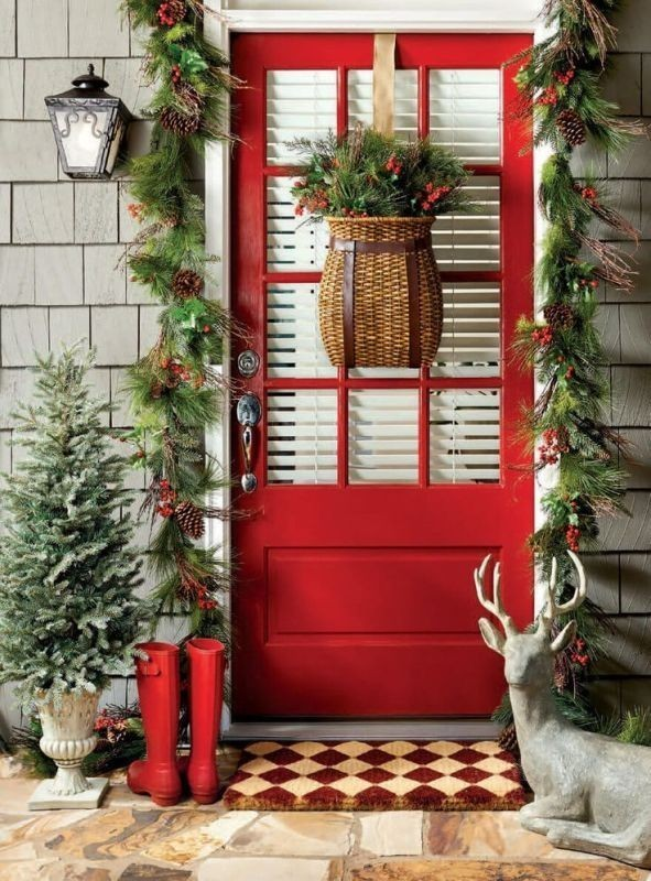 outdoor-Christmas-decoration-49 91+ Adorable Outdoor Christmas Decoration Ideas in 2020