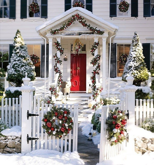 outdoor-Christmas-decoration-71 91+ Adorable Outdoor Christmas Decoration Ideas 2018