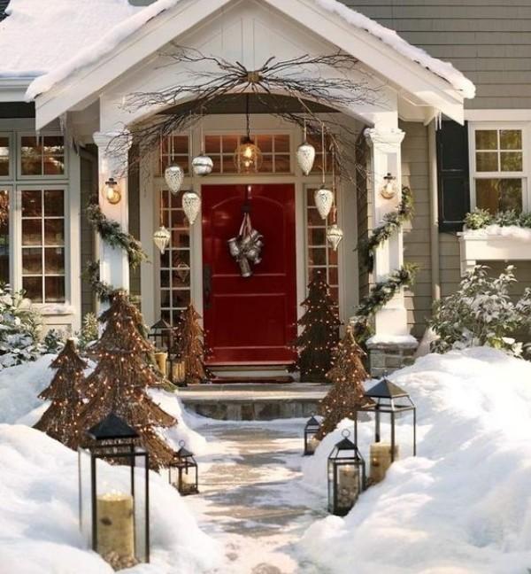 outdoor-Christmas-decoration-72 91+ Adorable Outdoor Christmas Decoration Ideas in 2020