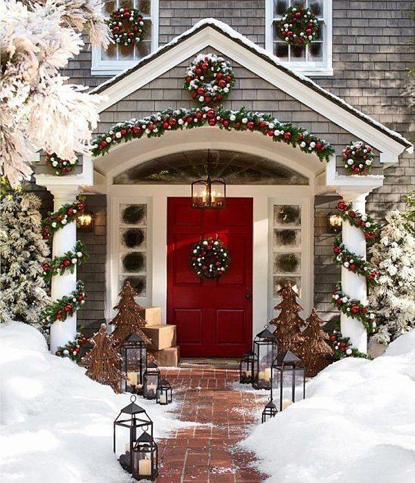 outdoor-Christmas-decoration-77 91+ Adorable Outdoor Christmas Decoration Ideas in 2020