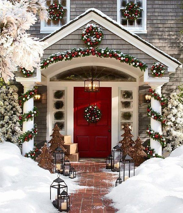 outdoor-Christmas-decoration-77 91+ Adorable Outdoor Christmas Decoration Ideas 2018