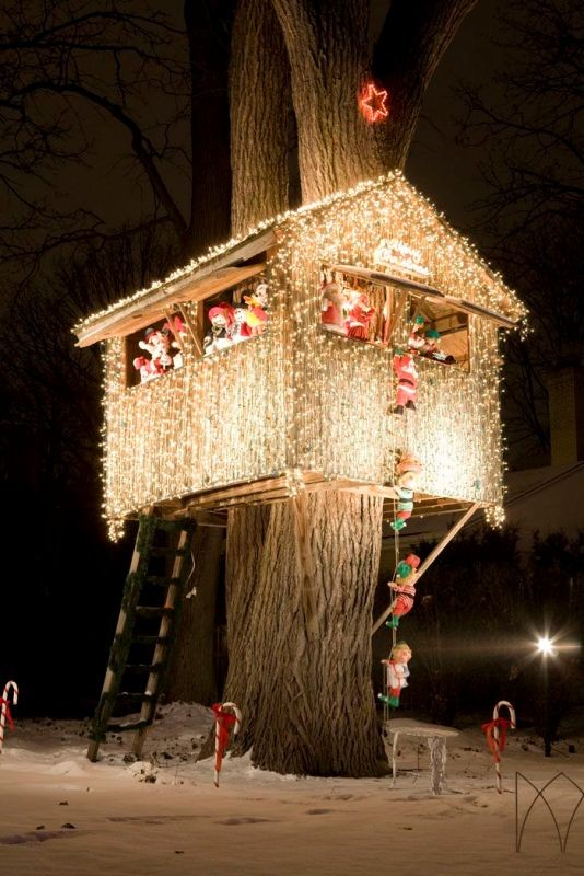 outdoor-Christmas-light-decoration-ideas-24 98+ Magical Christmas Light Decoration Ideas for Your Yard 2018